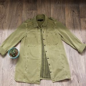 Forever 21 Boho Military Jacket